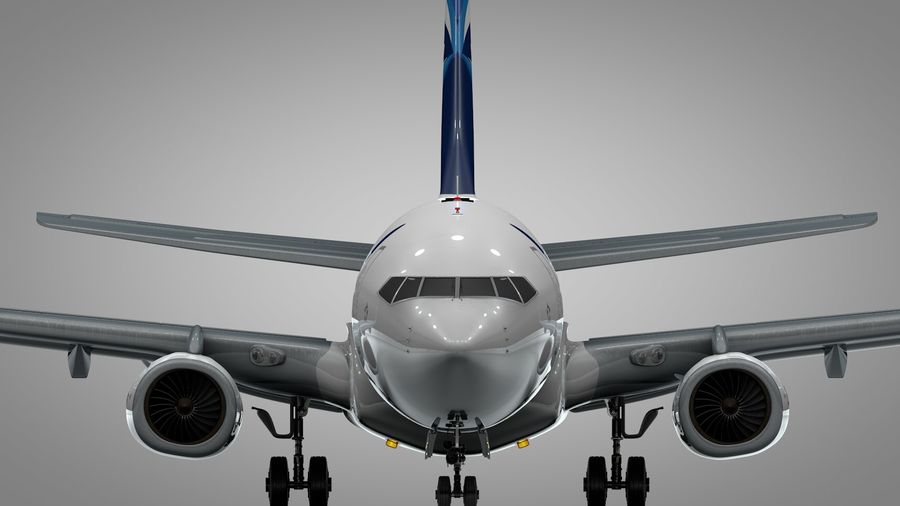 EGYPTAIR Boeing 737-800 L435 royalty-free 3d model - Preview no. 10