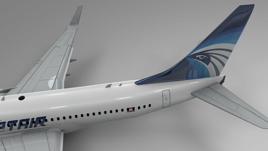 EGYPTAIR Boeing 737-800 L435 royalty-free 3d model - Preview no. 12