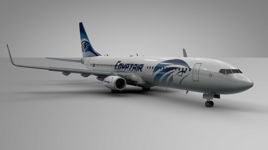 EGYPTAIR Boeing 737-800 L435 royalty-free 3d model - Preview no. 6