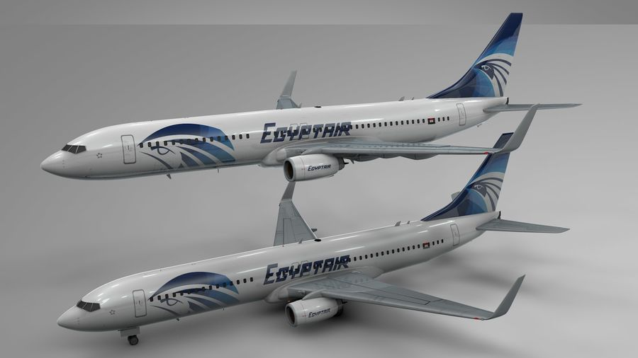 EGYPTAIR Boeing 737-800 L435 royalty-free 3d model - Preview no. 21