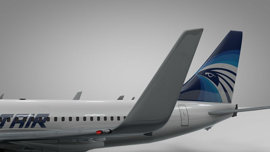 EGYPTAIR Boeing 737-800 L435 royalty-free 3d model - Preview no. 13