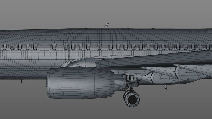 EGYPTAIR Boeing 737-800 L435 royalty-free 3d model - Preview no. 31