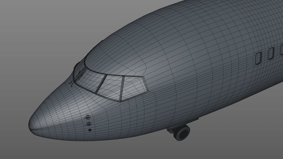 EGYPTAIR Boeing 737-800 L435 royalty-free 3d model - Preview no. 24
