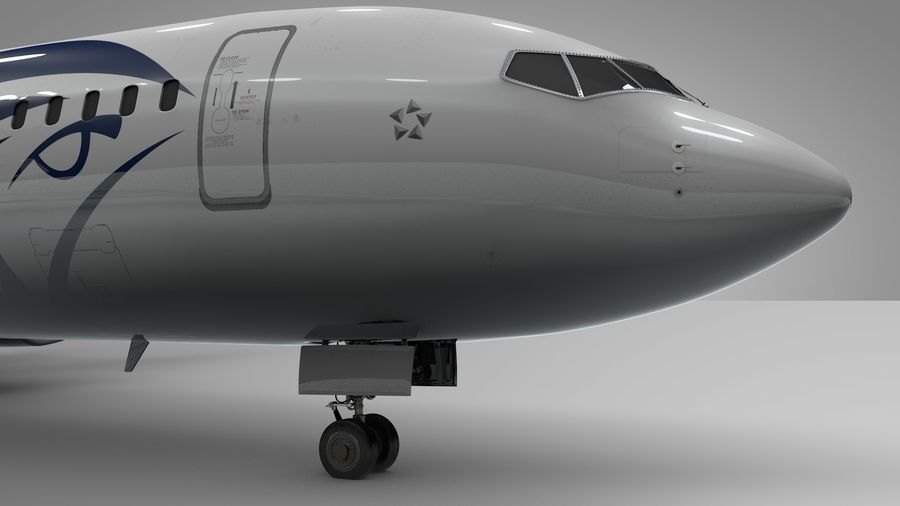 EGYPTAIR Boeing 737-800 L435 royalty-free 3d model - Preview no. 15