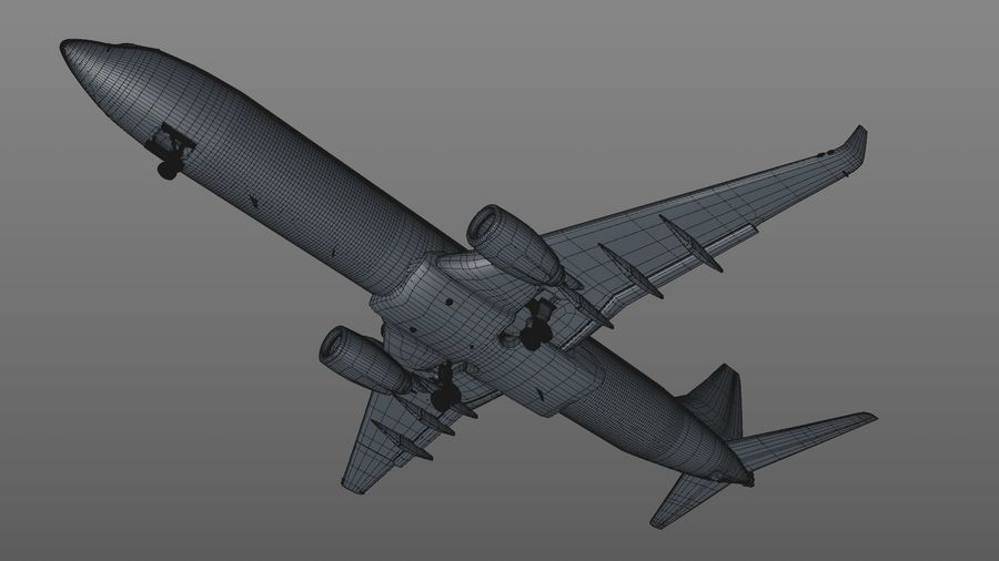EGYPTAIR Boeing 737-800 L435 royalty-free 3d model - Preview no. 33