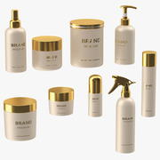 Kosmetikpaket Set Gold 3d model
