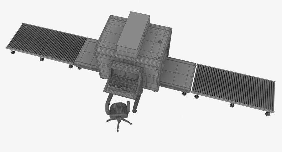 Collectie luchthavenbagage Carrousel en röntgenband royalty-free 3d model - Preview no. 14