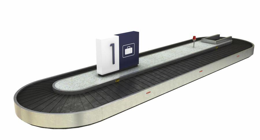 Collectie luchthavenbagage Carrousel en röntgenband royalty-free 3d model - Preview no. 17