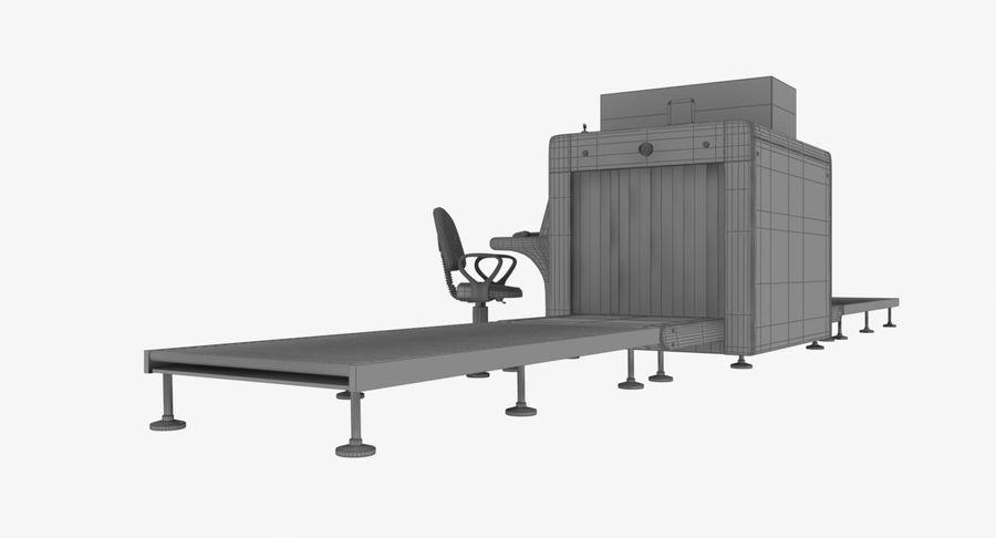 Collectie luchthavenbagage Carrousel en röntgenband royalty-free 3d model - Preview no. 12