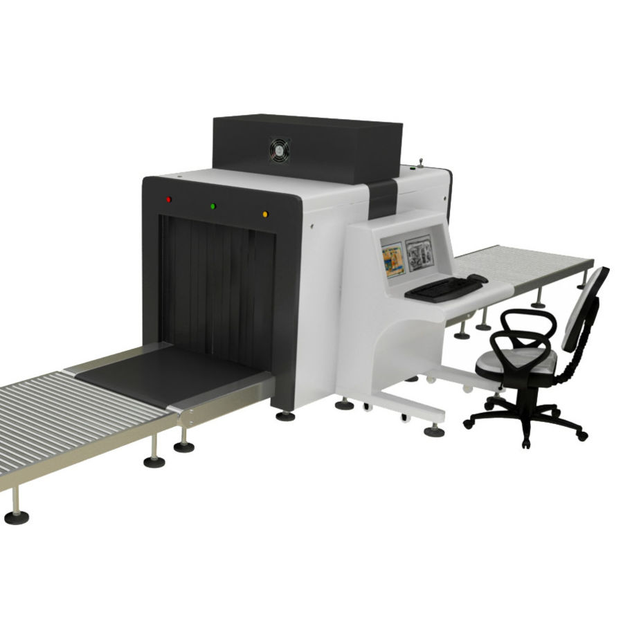 Collectie luchthavenbagage Carrousel en röntgenband royalty-free 3d model - Preview no. 3