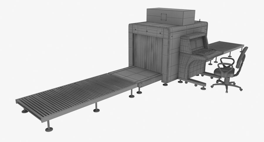 Collectie luchthavenbagage Carrousel en röntgenband royalty-free 3d model - Preview no. 10