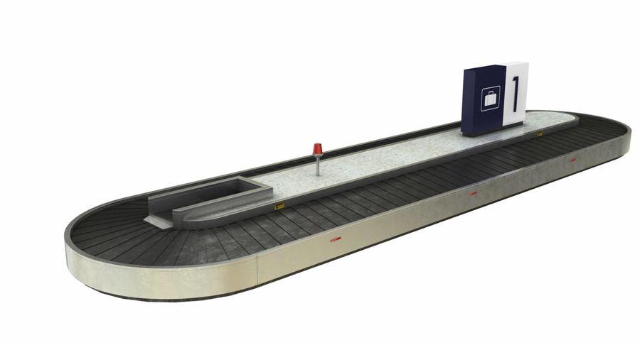 Collectie luchthavenbagage Carrousel en röntgenband royalty-free 3d model - Preview no. 2