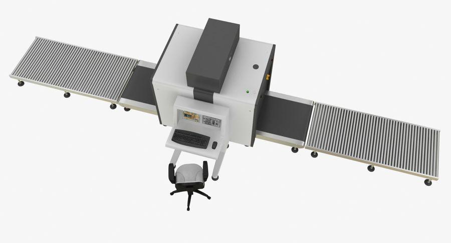 Collectie luchthavenbagage Carrousel en röntgenband royalty-free 3d model - Preview no. 8