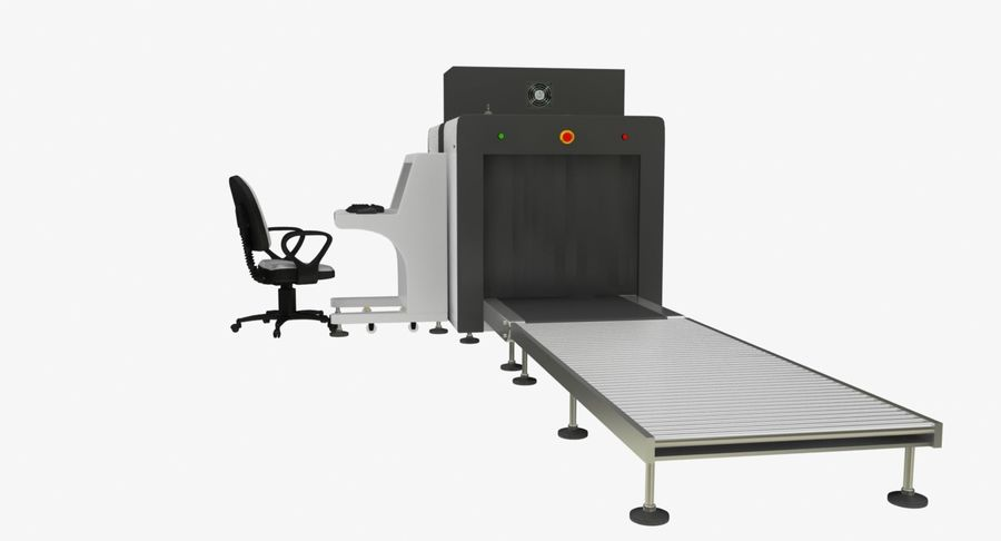 Collectie luchthavenbagage Carrousel en röntgenband royalty-free 3d model - Preview no. 7
