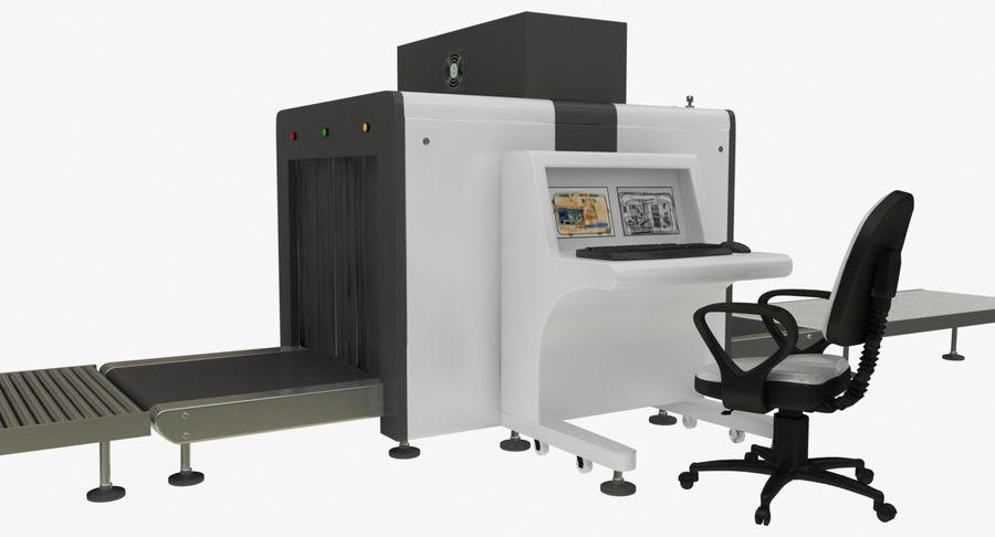Collectie luchthavenbagage Carrousel en röntgenband royalty-free 3d model - Preview no. 9