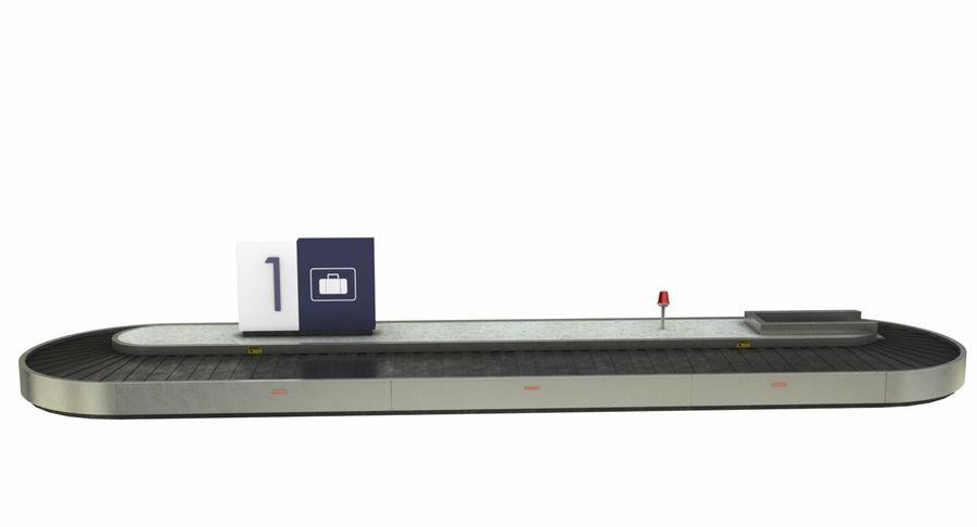 Collectie luchthavenbagage Carrousel en röntgenband royalty-free 3d model - Preview no. 20