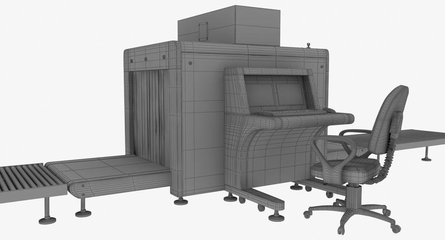Collectie luchthavenbagage Carrousel en röntgenband royalty-free 3d model - Preview no. 15