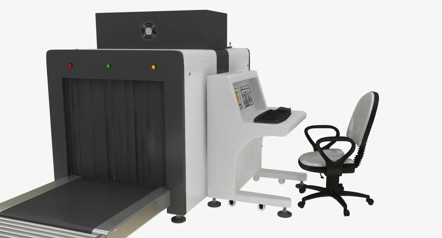 Collectie luchthavenbagage Carrousel en röntgenband royalty-free 3d model - Preview no. 5