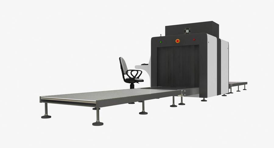 Collectie luchthavenbagage Carrousel en röntgenband royalty-free 3d model - Preview no. 6