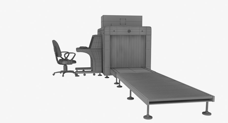 Collectie luchthavenbagage Carrousel en röntgenband royalty-free 3d model - Preview no. 13
