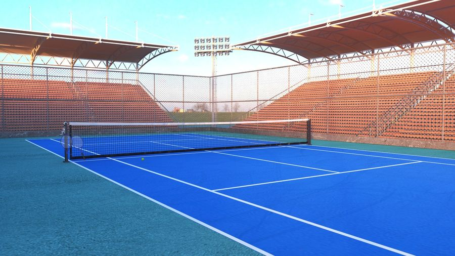Tennis Court Arena royalty-free 3d model - Preview no. 2