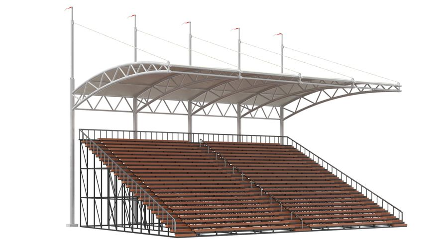 Tennis Court Arena royalty-free 3d model - Preview no. 23