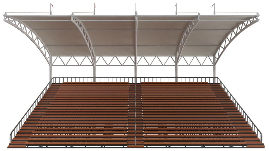 Tennis Court Arena royalty-free 3d model - Preview no. 30