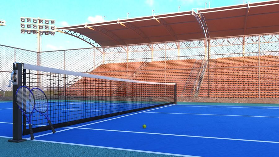 Tennis Court Arena royalty-free 3d model - Preview no. 4