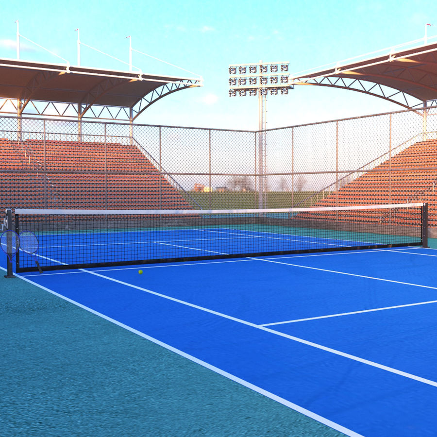 Tennis Court Arena royalty-free 3d model - Preview no. 1