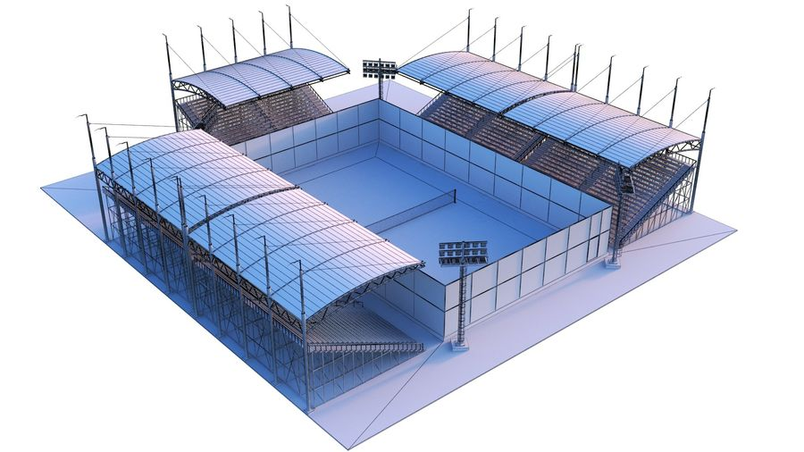 Tennis Court Arena royalty-free 3d model - Preview no. 11