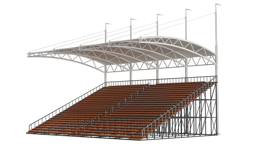 Tennis Court Arena royalty-free 3d model - Preview no. 24