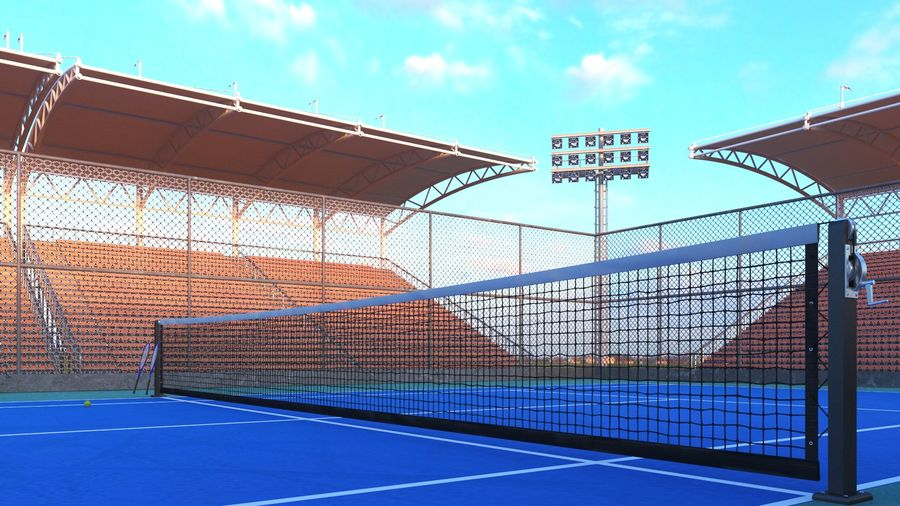 Tennis Court Arena royalty-free 3d model - Preview no. 9