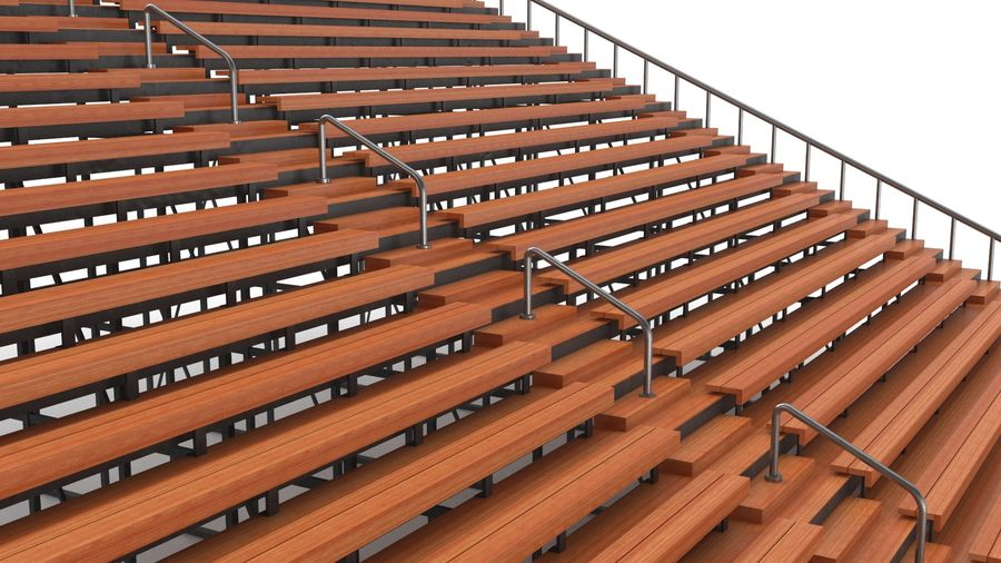 Tennis Court Arena royalty-free 3d model - Preview no. 28