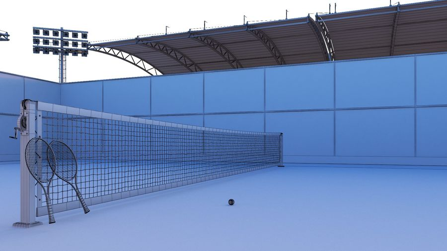 Tennis Court Arena royalty-free 3d model - Preview no. 12