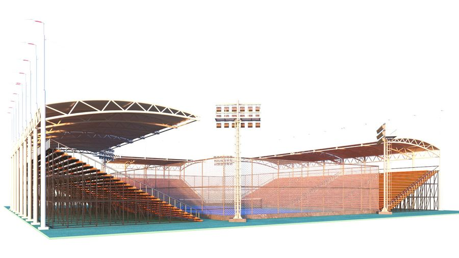Tennis Court Arena royalty-free 3d model - Preview no. 8