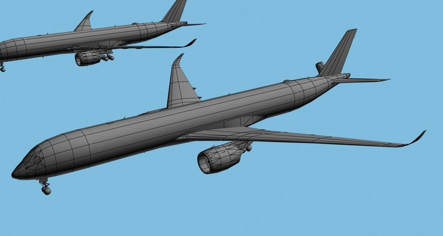 Airbus A350-900 / A350-1000 Base + 8 Liveries royalty-free 3d model - Preview no. 11