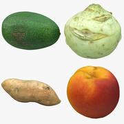 Kolekcja owoców 03 3d model