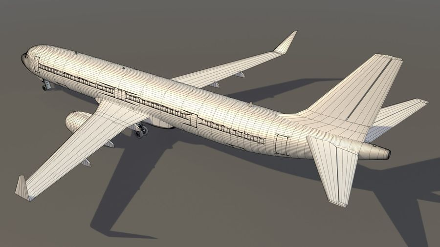美国航空飞机(1) royalty-free 3d model - Preview no. 15