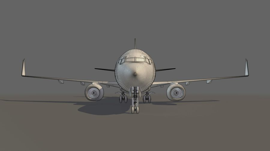 美国航空飞机(1) royalty-free 3d model - Preview no. 20
