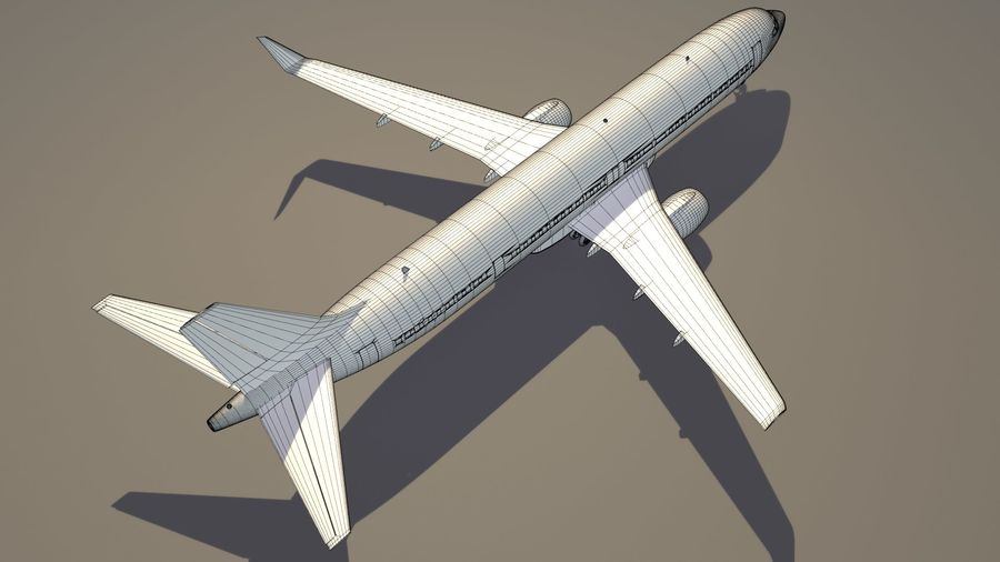 美国航空飞机(1) royalty-free 3d model - Preview no. 16