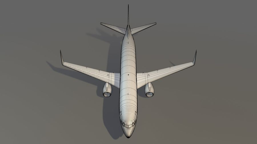 美国航空飞机(1) royalty-free 3d model - Preview no. 21
