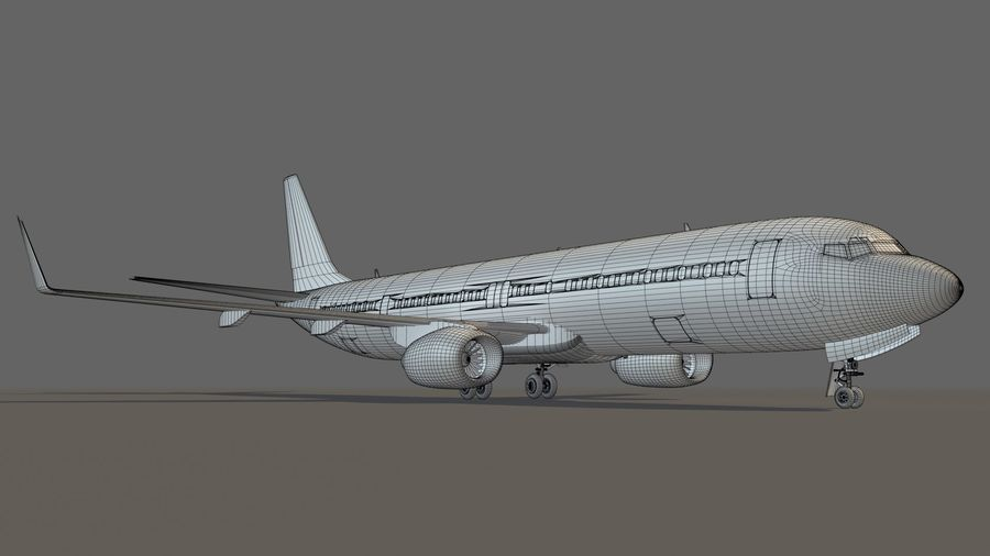 美国航空飞机(1) royalty-free 3d model - Preview no. 18