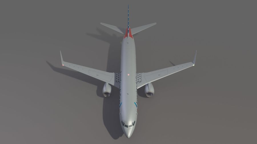 美国航空飞机(1) royalty-free 3d model - Preview no. 10