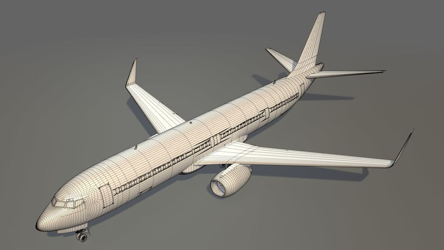 美国航空飞机(1) royalty-free 3d model - Preview no. 22