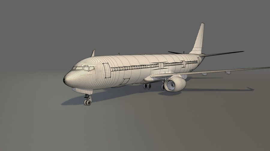 美国航空飞机(1) royalty-free 3d model - Preview no. 13