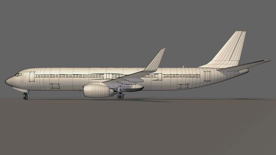 美国航空飞机(1) royalty-free 3d model - Preview no. 19