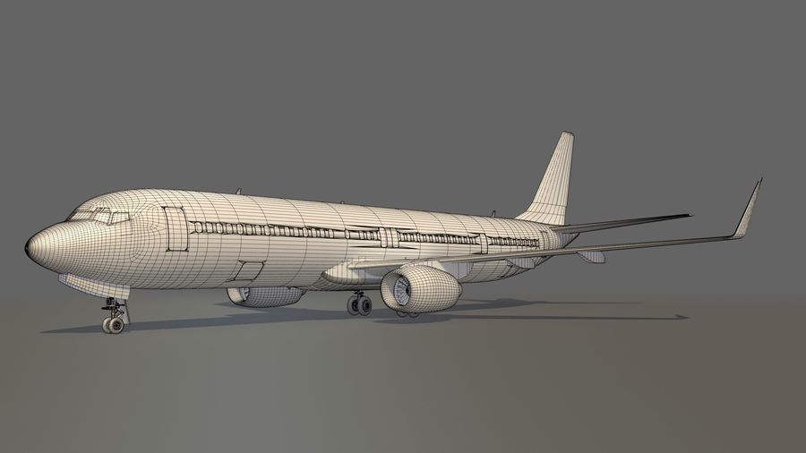 美国航空飞机(1) royalty-free 3d model - Preview no. 17