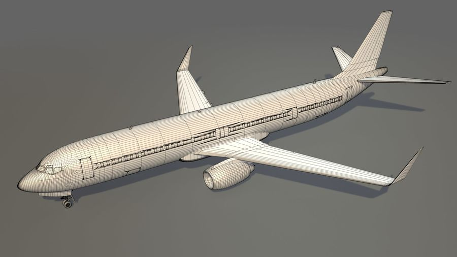 美国航空飞机(1) royalty-free 3d model - Preview no. 14