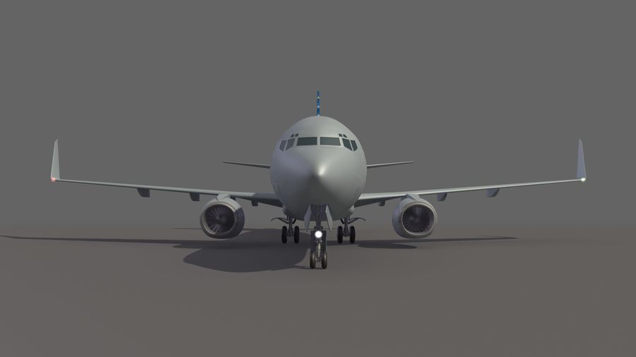 美国航空飞机(1) royalty-free 3d model - Preview no. 9