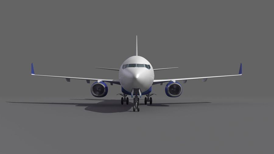 IndiGo Aircraft Airplane royalty-free 3d model - Preview no. 9
